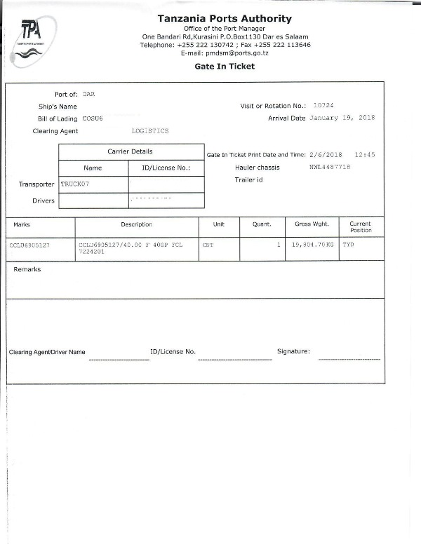 Used motor vehicle import clearance procedure through the